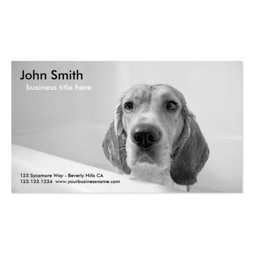 Beagle Dog Pet Grooming business card