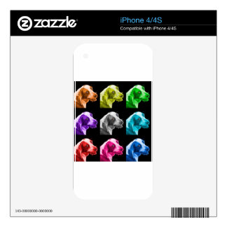 beagle dog pop art 6896 bb skins for iPhone 4