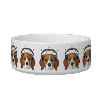 Beagle Dog Pop Art, Medium Pet Bowl