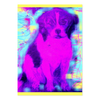 beagle dog popart large business card