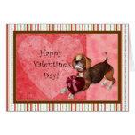 Beagle Dog Valentine's Day Card