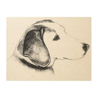 beagle dog wood print