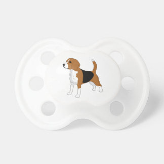 Beagle Drawing Pacifier
