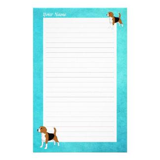 Beagle Drawing Personalized Stationery