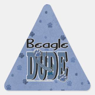 Beagle DUDE Triangle Sticker