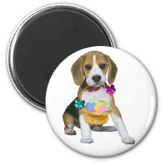 Beagle Easter 2 Inch Round Magnet