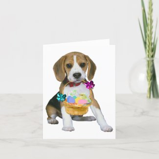 Beagle Easter card