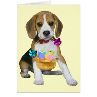 Beagle Easter - Customized Stationery Note Card