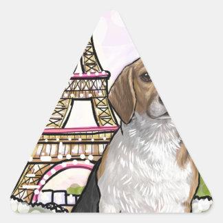 beagle eiffel tower paris triangle sticker