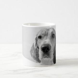 Beagle en la bañera taza de café