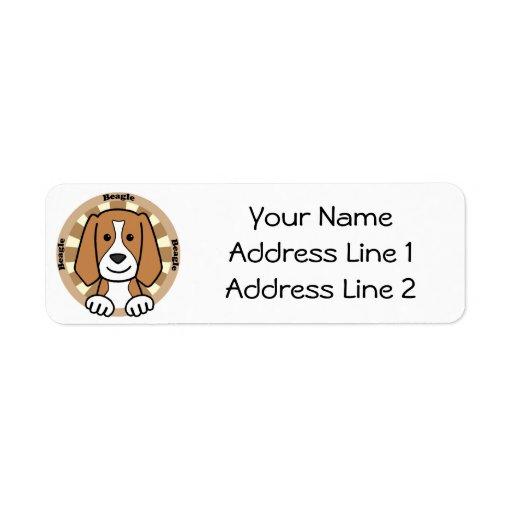 Beagle Etiqueta De Remitente