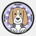 Beagle Etiqueta Redonda
