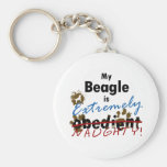 Beagle extremadamente travieso llaveros