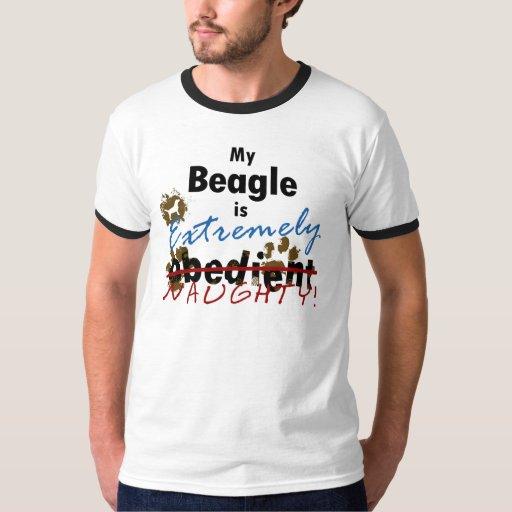 Beagle extremadamente travieso remera