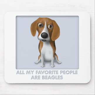 Beagle Favorite Mouse Pad