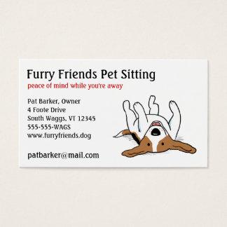 Beagle feliz - perro lindo del dibujo animado tarjeta de negocios