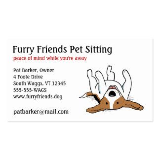 Beagle feliz - perro lindo del dibujo animado tarjetas de visita