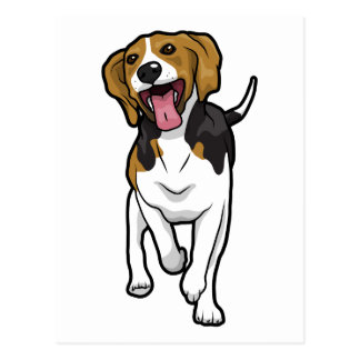 Beagle feliz postal