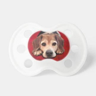 Beagle Fine Art Dog Art Painting BooginHead Pacifier