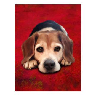 Beagle Fine Art Dog Art Painting Postcard