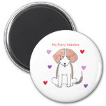 Beagle Furry Valentine Magnet