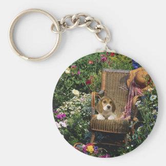 Beagle Garden Keychain