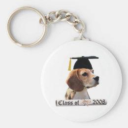 Beagle Grad08 Keychain