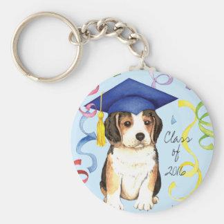 Beagle Graduate Keychain