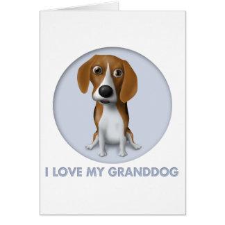 Beagle Granddog Card