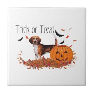 Beagle Halloween Azulejo Cuadrado Pequeño