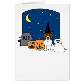 Beagle Halloween Card