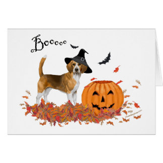 Beagle Halloween Card