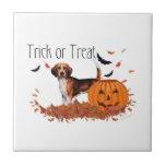 Beagle Halloween Ceramic Tiles