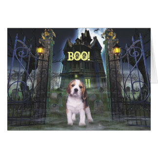 Beagle Halloween Greeting Card