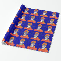 Beagle Halloween Moon Wrapping Paper