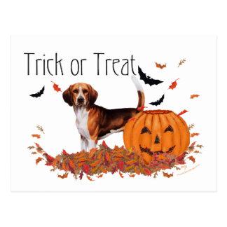 Beagle Halloween Postcard