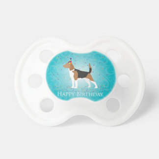 Beagle Happy Birthday Design Baby Pacifiers