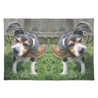 Beagle Happy Dance Place Mat Cloth Placemat