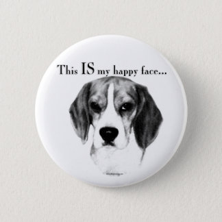 Beagle Happy Face Button