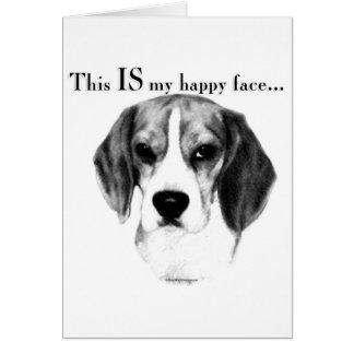Beagle Happy Face Greeting Card