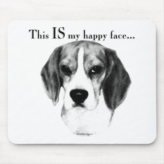 Beagle Happy Face Mouse Pad