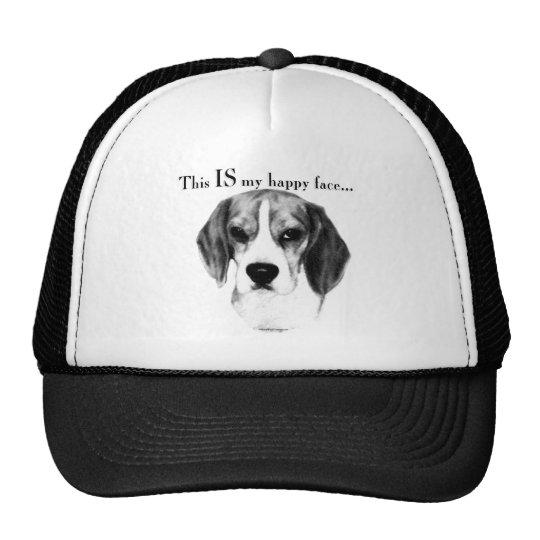 Beagle Happy Face Trucker Hat