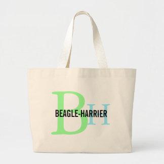 Beagle-Harrier Breed Monogram Design Jumbo Tote Bag