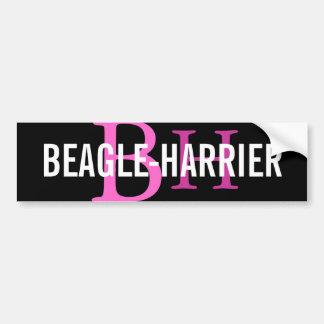 Beagle-Harrier Breed Monogram Design Car Bumper Sticker