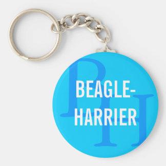 Beagle-Harrier Breed Monogram Design Basic Round Button Keychain