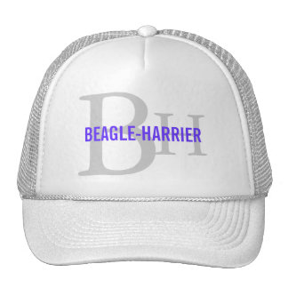 Beagle-Harrier Breed Monogram Design Trucker Hat