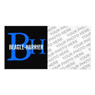 Beagle-Harrier Breed Monogram Photo Greeting Card