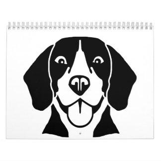 Beagle head face calendar