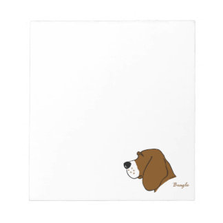 Beagle head silhouette notepad