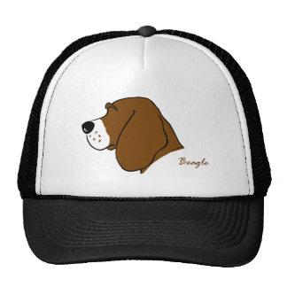 Beagle head silhouette trucker hat